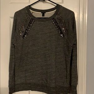 Jcrew jeweled crewneck